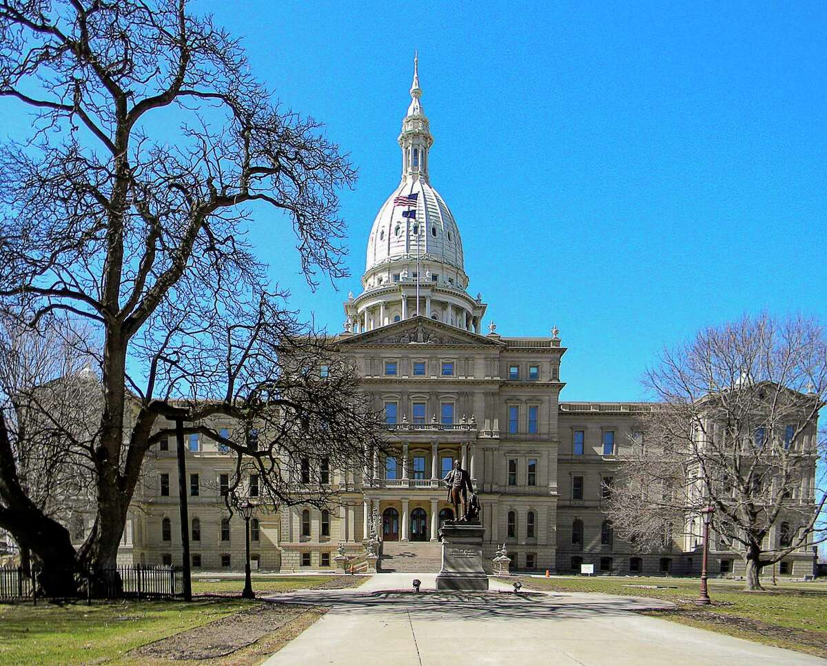 Michigan State capitol building in Lansing Michigan in early spring. (Dreamstime/TNS)