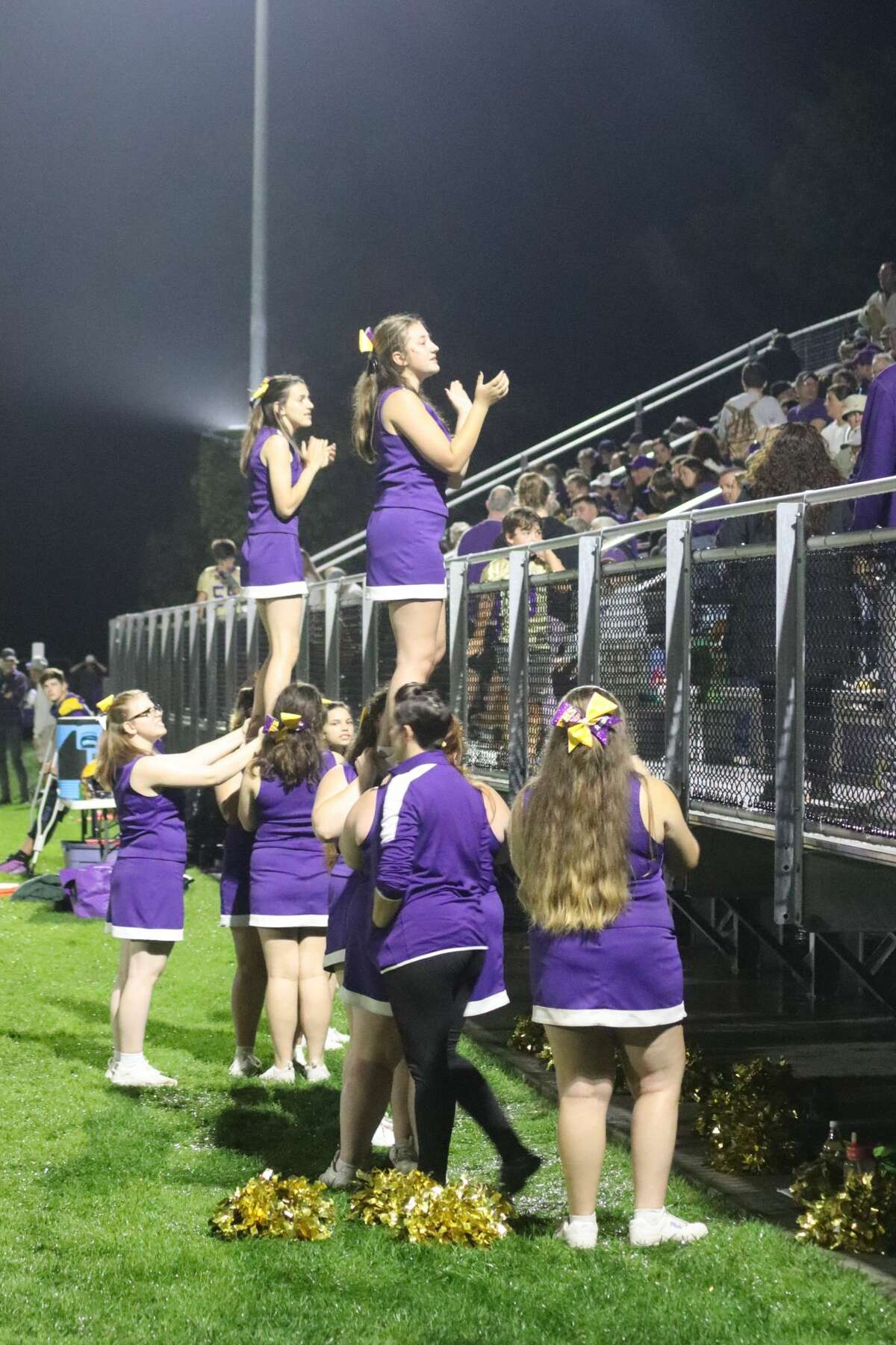 Frankfort gets support from its student body during Friday night's homecoming win.