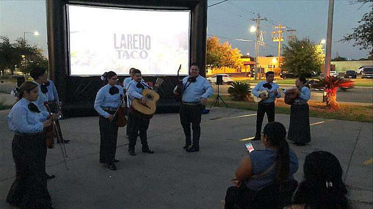 The screening was held Tuesday night, or what unofficially is considered Taco Tuesday, outside of Average Joe's bar on 9652 McPherson Rd. #1 from 7 p.m. to 9 p.m.