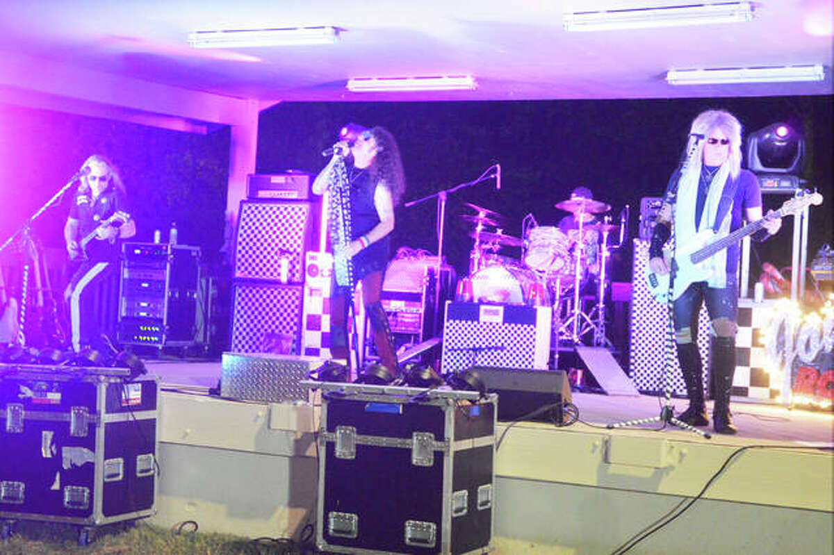 The Johnny Rock-itt Band provided the music Saturday night for Glenfest at Miner Park in Glen Carbon.
