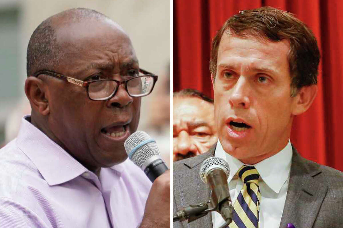 Mayor Sylvester Turner (left) and Tom McCasland, former director of housing and community development department, (right) are pictured in this composite photo.