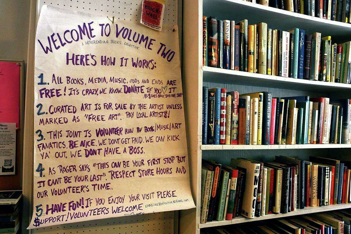 Never Ending Books is located in New Haven.