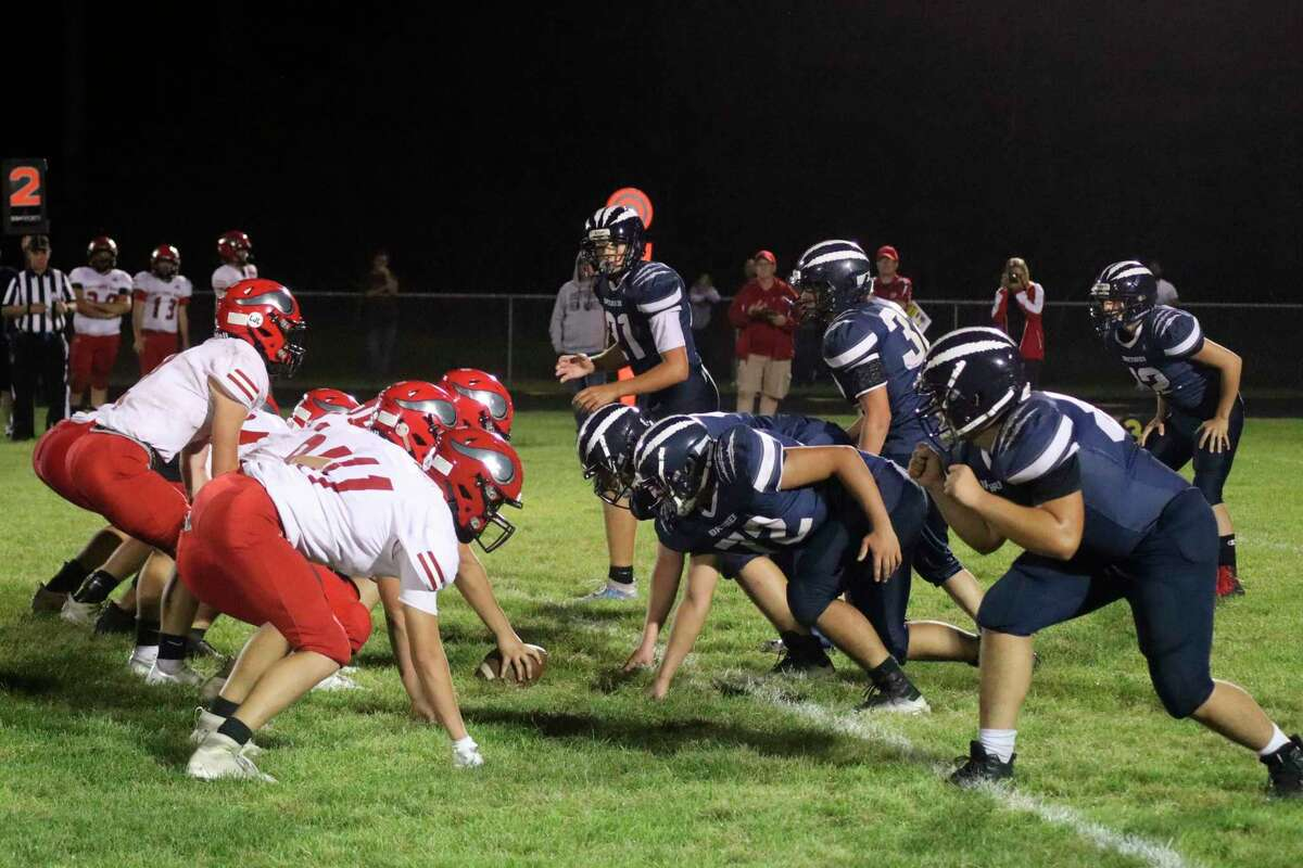 The Brethren Bobcats lined up against Suttons Bay on Sept. 17. (File photo)