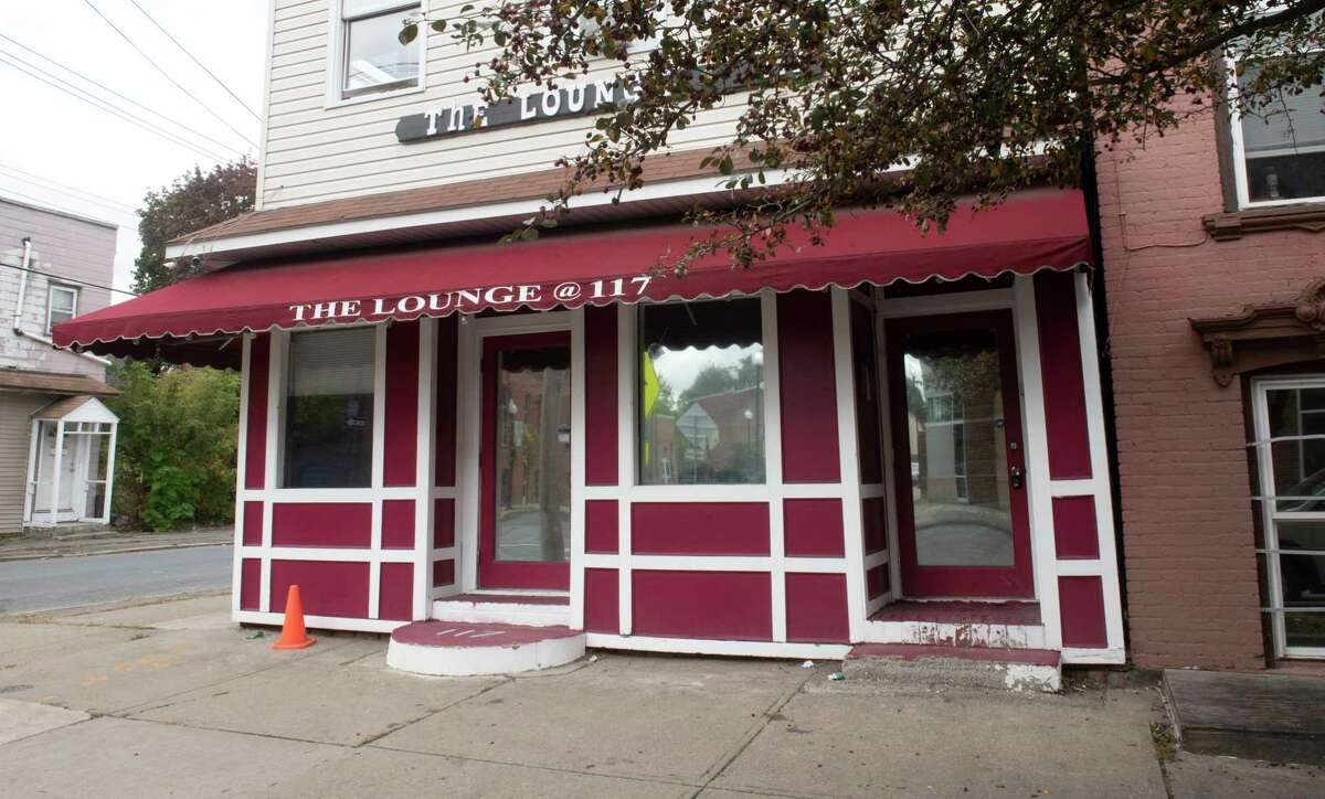 Exterior of The Lounge at 117 North Lake Ave. at he scene of Saturday night's mass shooting that killed Alexander Bolton and wounded six people on Monday, Oct, 11, 2021 in Albany, N.Y.
