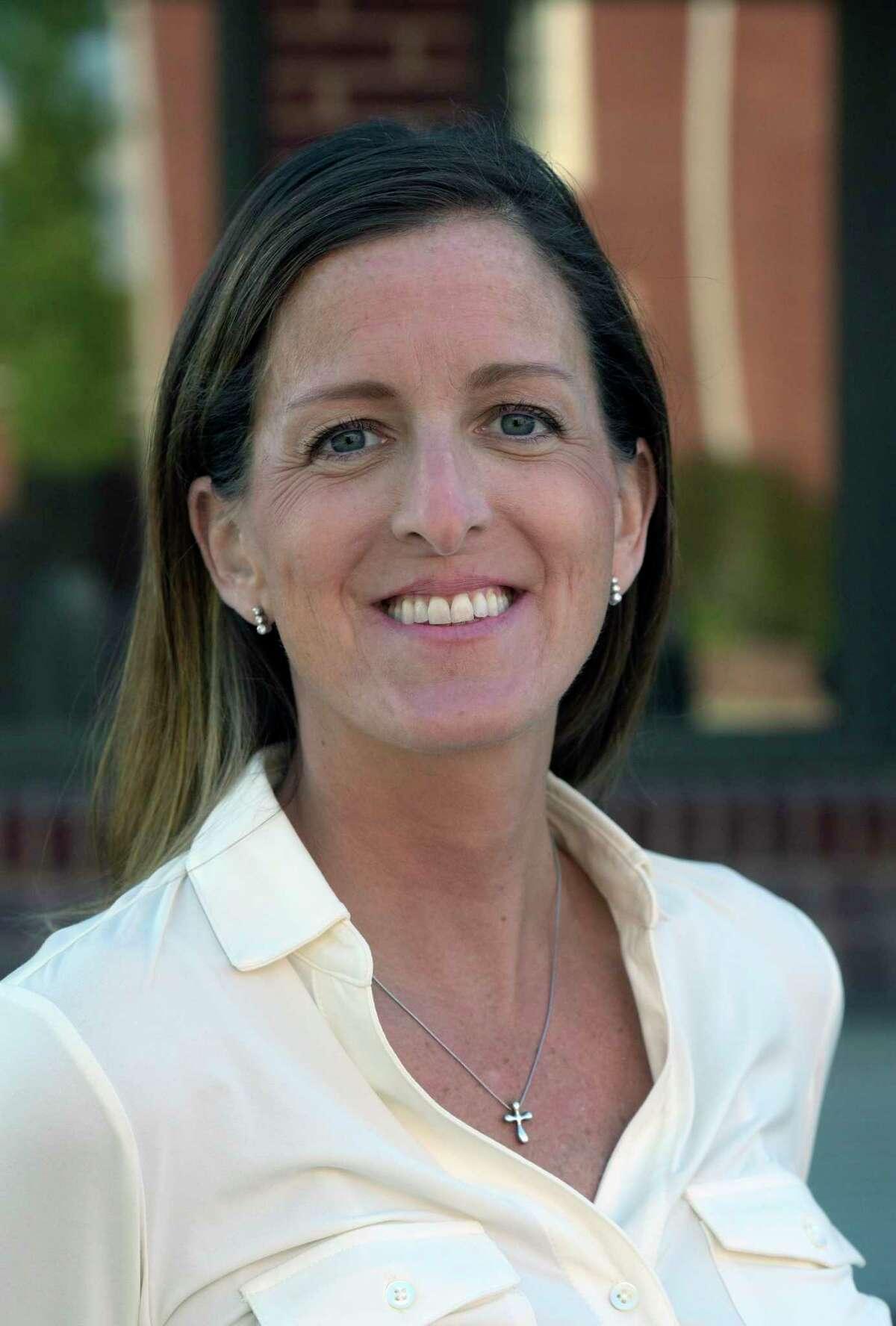 Republican Tara Carr, Republican, is running for first selectman in Brookfield. Friday, October 1, 2021, Danbury, Conn.
