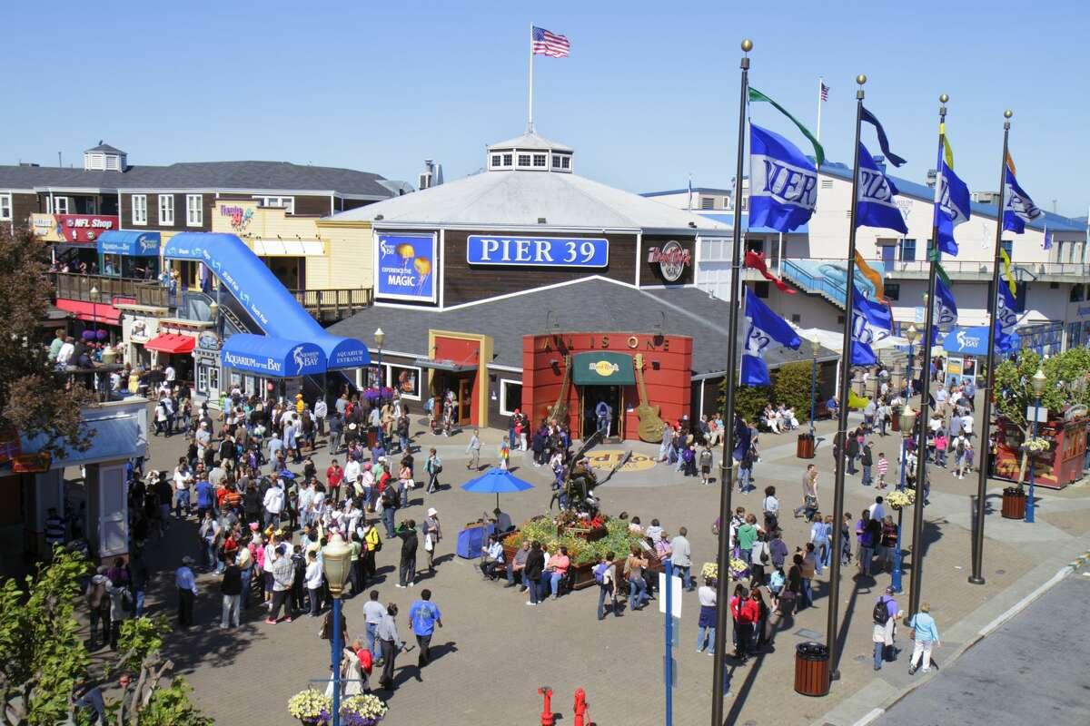 Pier 39, San Francisco's most popular tourist destination at the edge of Fisherman's Wharf.