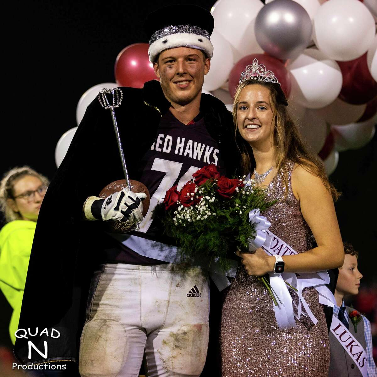 Cass City's homecoming King, Connor Herford and homecoming Queen, Kalee Gray. (Quad N Productions/For the Tribune)