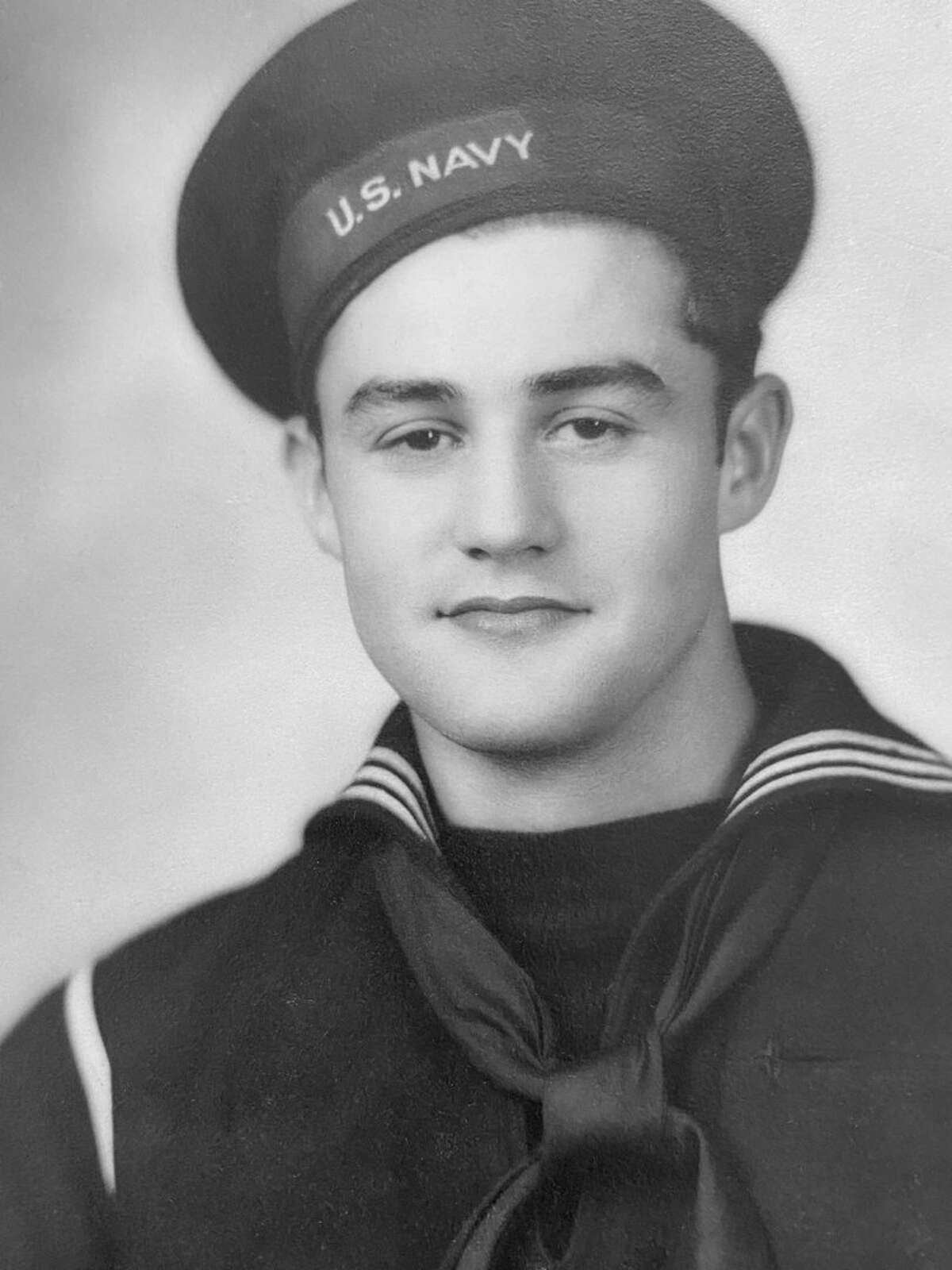 Robert Tschirthart's headshot from when he served in the United States Navy during World War II. Tschirthart turns 100 later this month and his family wants birthday cards sent to the assisted living facility he currently resides. (Courtesy Photo)