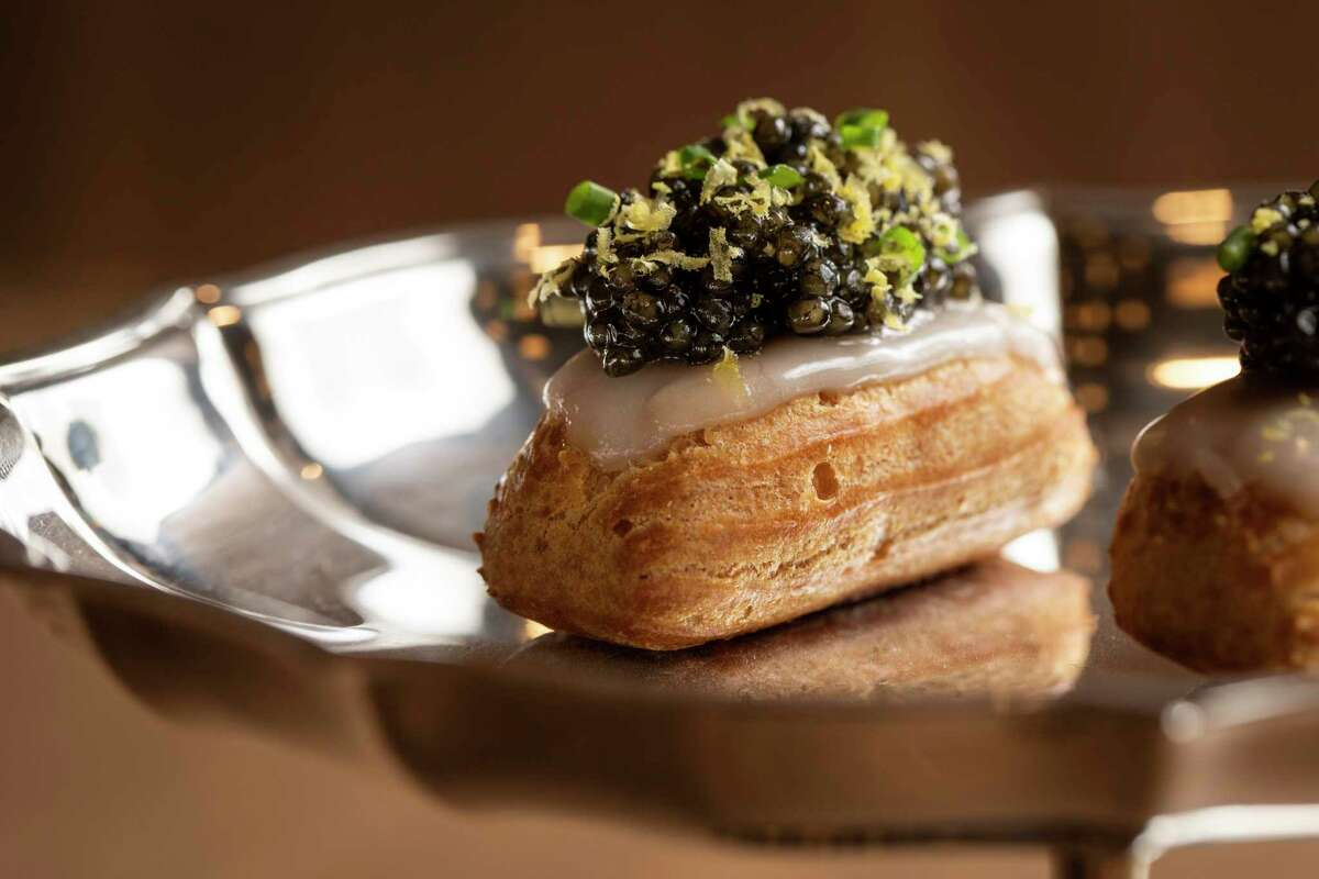 The eclair is a vessel for caviar at Le Fantastique in San Francisco.