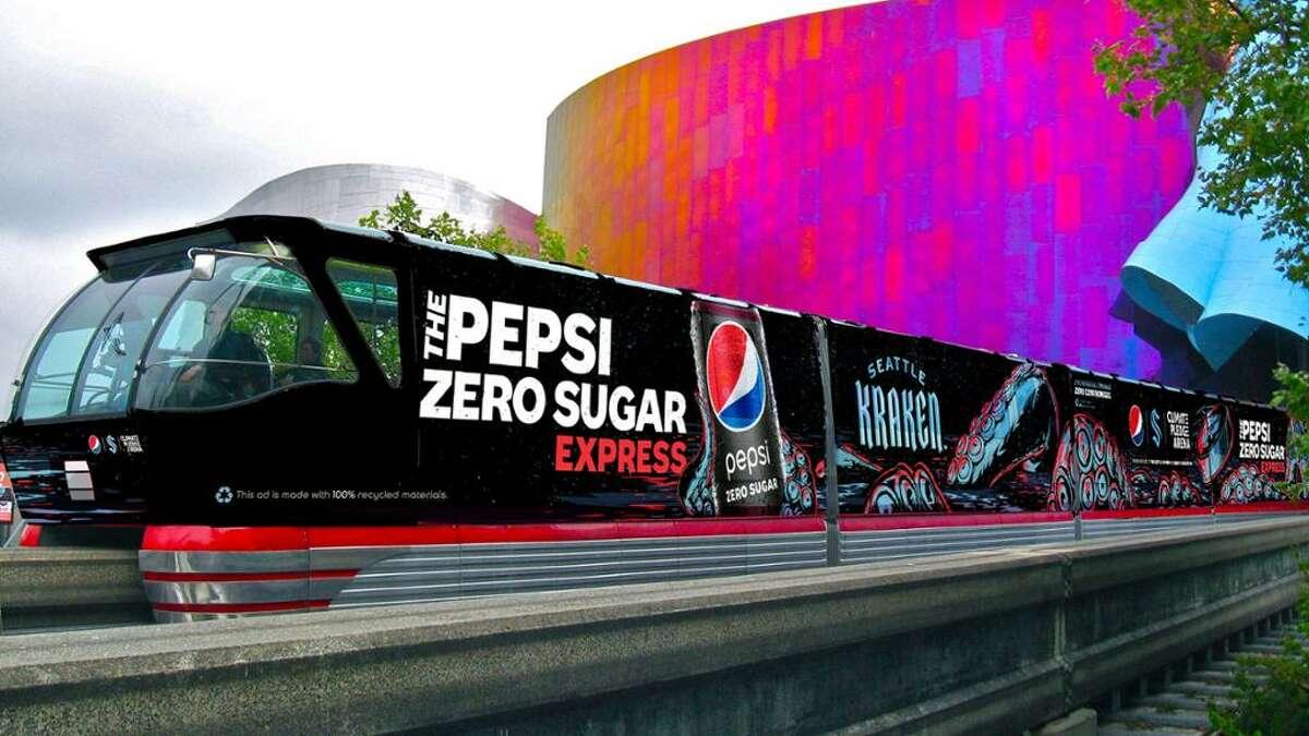 Your new ride to Kraken games: the Pepsi Zero Sugar Express.