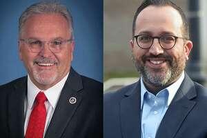 Dean Esposito, left, and Roberto Alves, candidates for Danbury mayor.