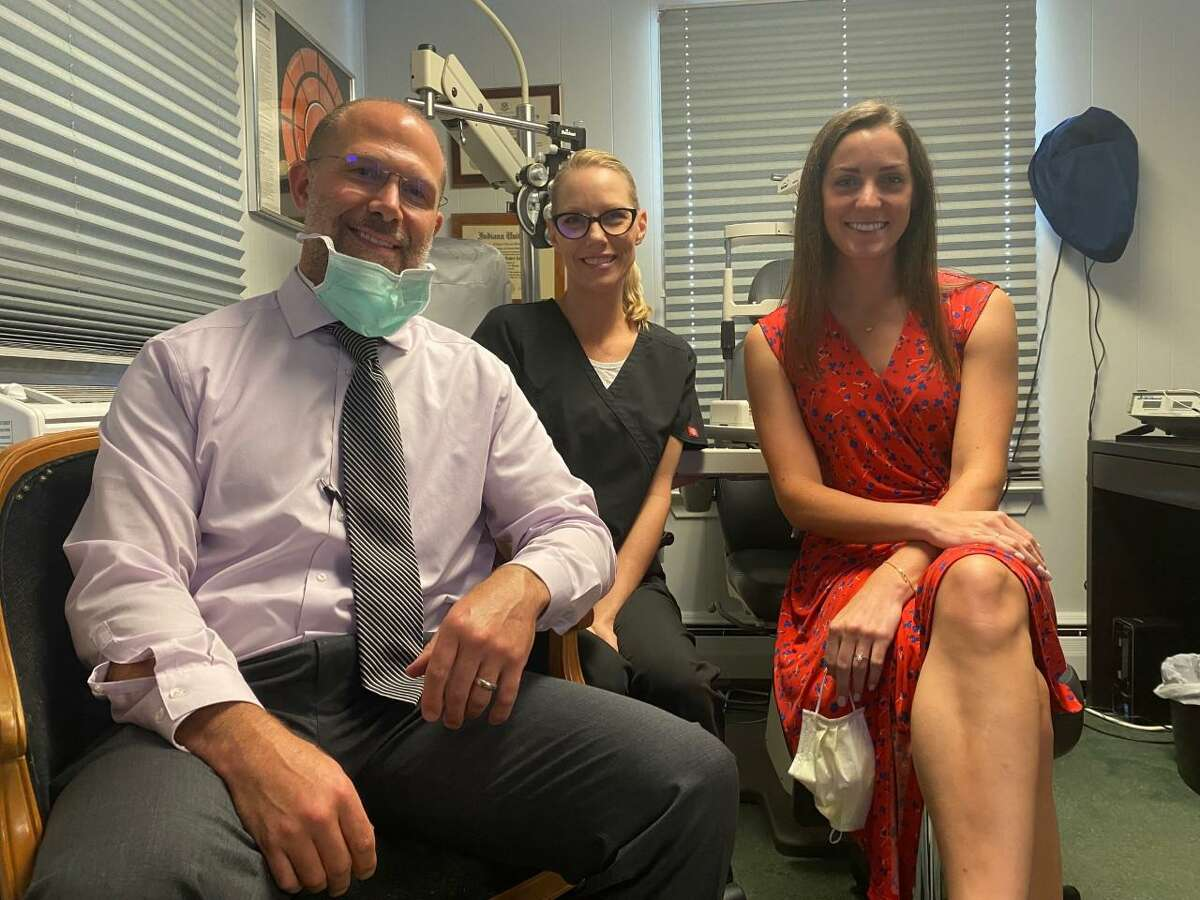 Eye Care Associates will be making a move from its longtime Coram Avenue location to Canal Street space. Pictured are Dr. Joseph Madrak, office manager Kari Madrak and Dr. Alexandra Budd.