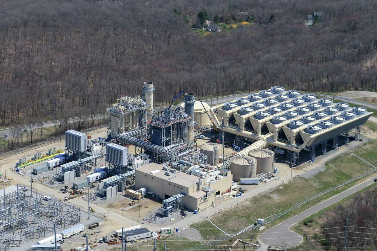 The CPV Towantic Energy Center in Oxford, Conn., in an aerial photo taken in May 2018. (File photo via GlobeNewswire)