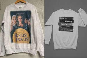 Just a Bunch of Hocus Pocus Sweatshirt , $24.95 at Esty/TrendyTeeStore    Gray Slasher VHS Stack , $36.99 at Etsy/West Coast Horror