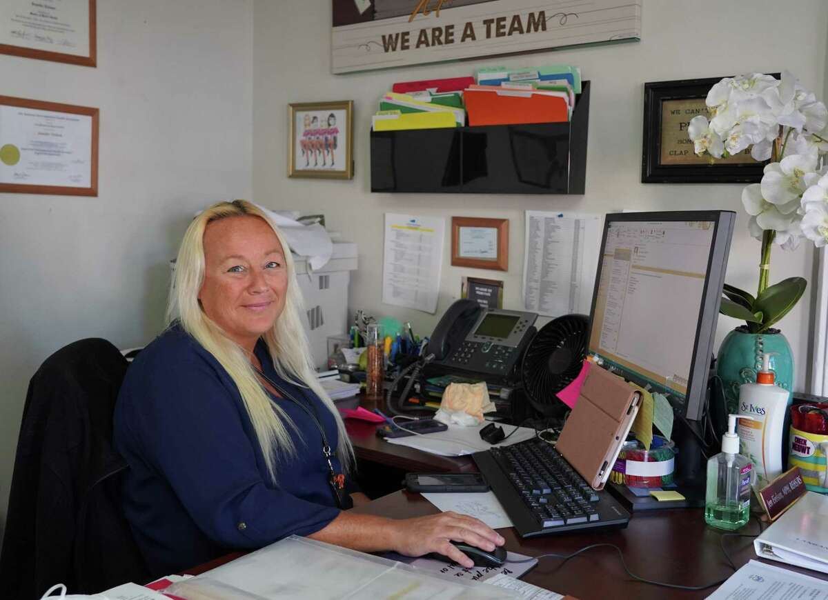 New Canaan Director of Health Jenn Eielson has been organizing vaccine clinics at Irwin House on Wedd Street. Picture was taken, Oct. 8, 2021.