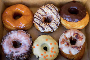 Dynamo Donut is a gourmet shop known for its seasonal donut flavors. They have two San Francisco outposts with one at 2760 24th St. in the Mission and a kiosk location at 10 Yacht Rd. in the Marina.