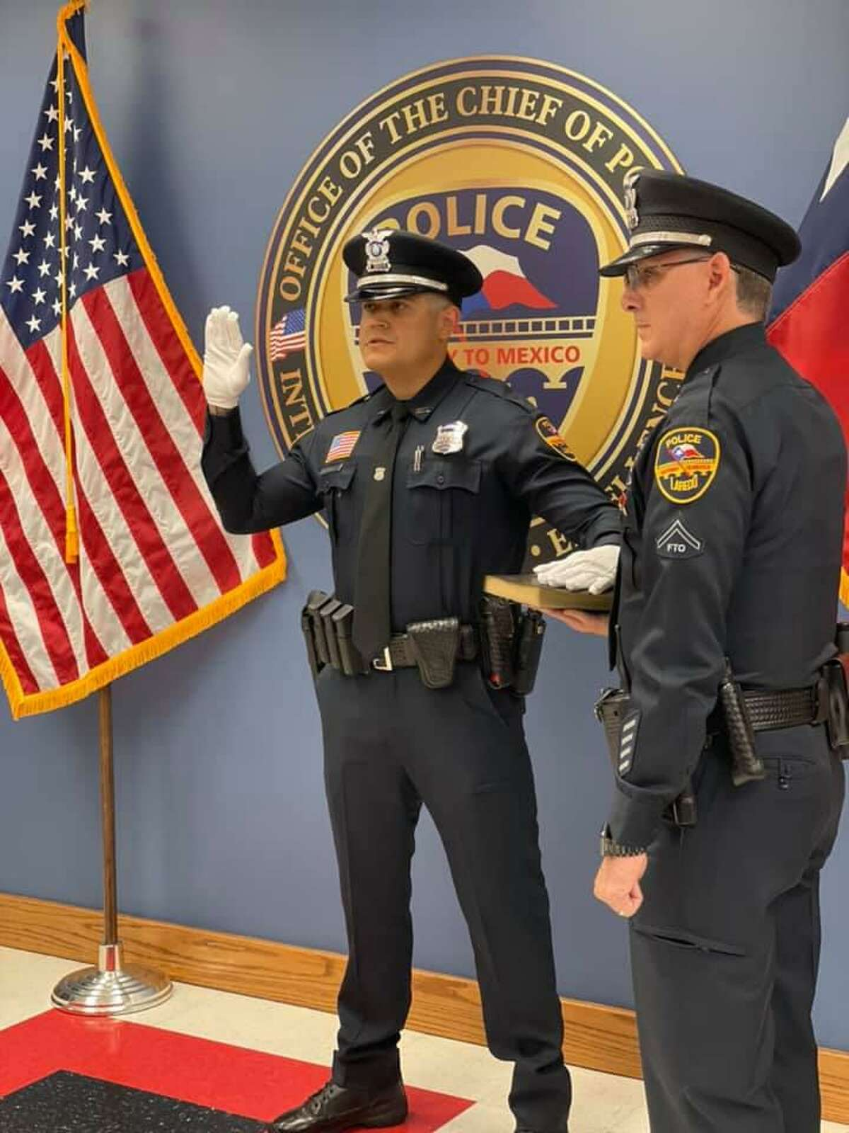 Ricardo Javier Lopez is the newest addition to the Laredo Police Department. Lopez was sworn in on Friday.
