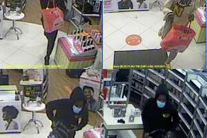 State police released this surveillance photo of three people who allegedly robbed an Ulta store in Lisbon.