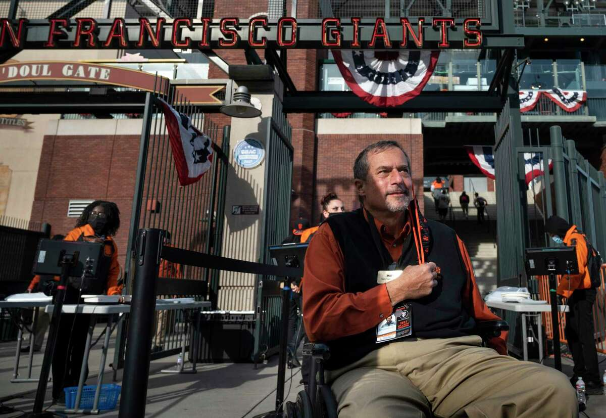 Matthew Farruggio, a diehard Giants fan since the 1960s, suffered a stroke in 2016. He was hired in Giants guest services in March 2020, though the pandemic delayed his duties for over a year.