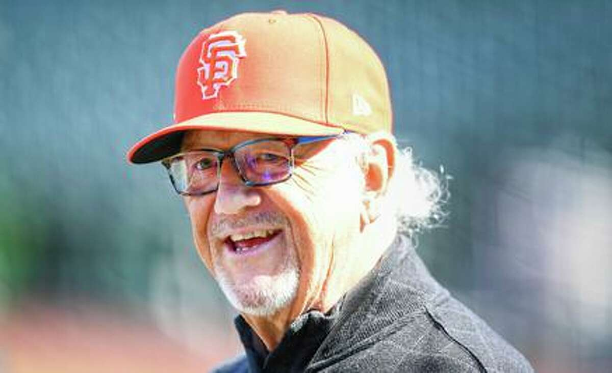 SAN FRANCISCO, CA - JULY 28: Hall of Fame broadcaster Jon Miller looks on during batting practice before a MLB game between the Los Angeles Dodgers and the San Francisco Giants on July 28, 2021 at Oracle Park in San Francisco, CA. (Photo by Brian Rothmuller/Icon Sportswire via Getty Images)