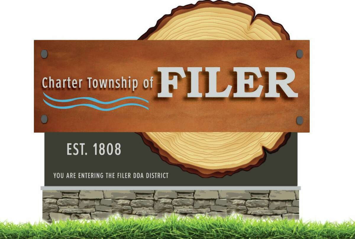 Awelcome sign to the Filer Township DDA district could be installed before the end of winter. (Courtesy image)