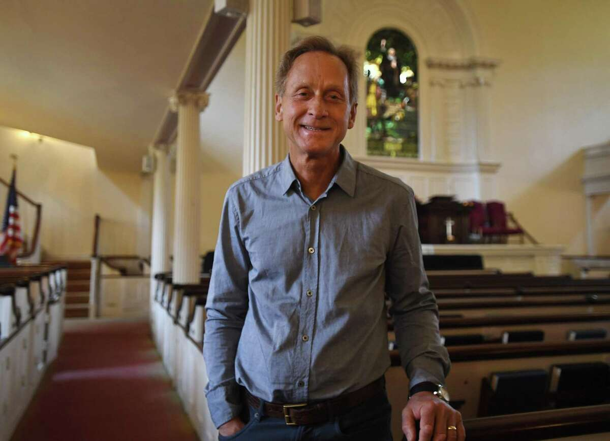Rev. Richard DenUyl, the new pastor of Center Church on the Green, in New Haven, Conn. on Tuesday, October 5, 20i21.