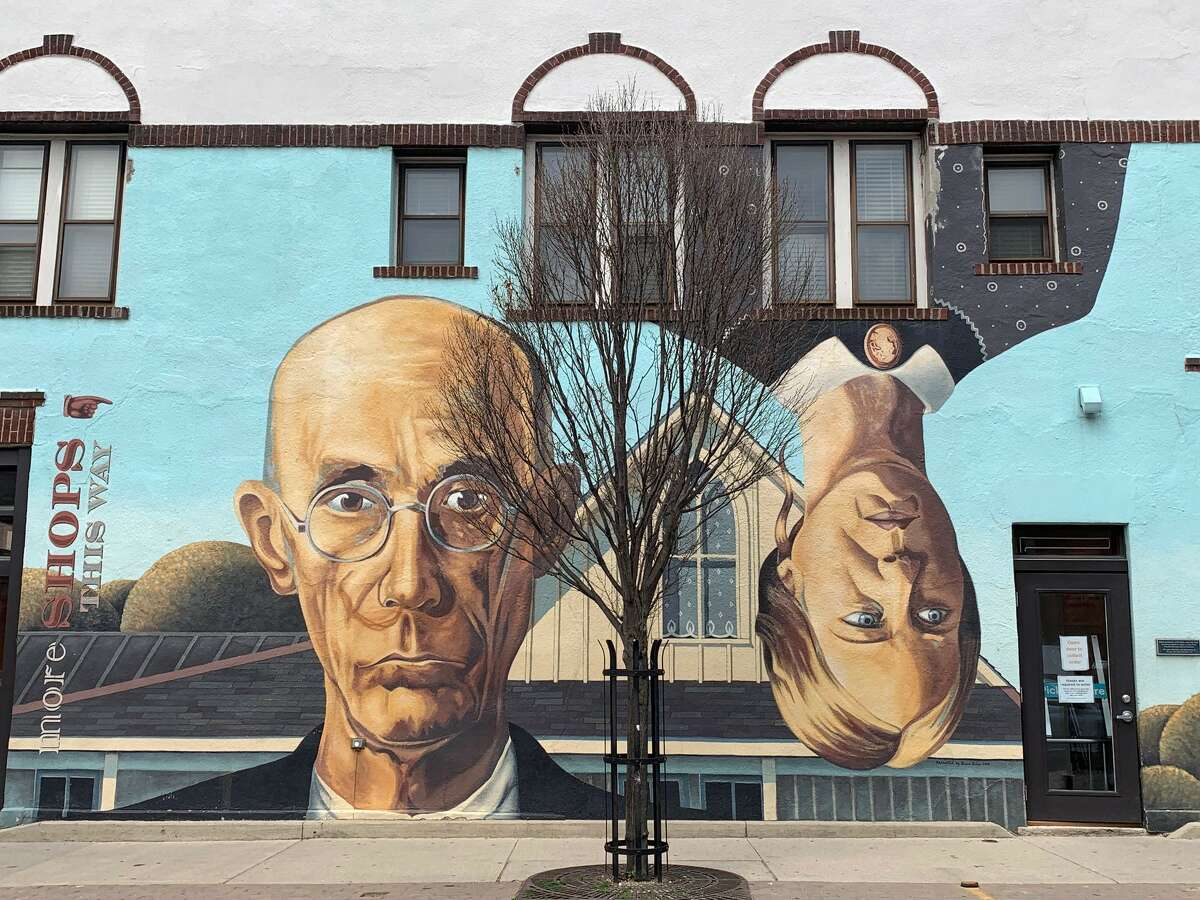 Street art, like this mural in Columbus, can be found in several of Ohio's metro areas.