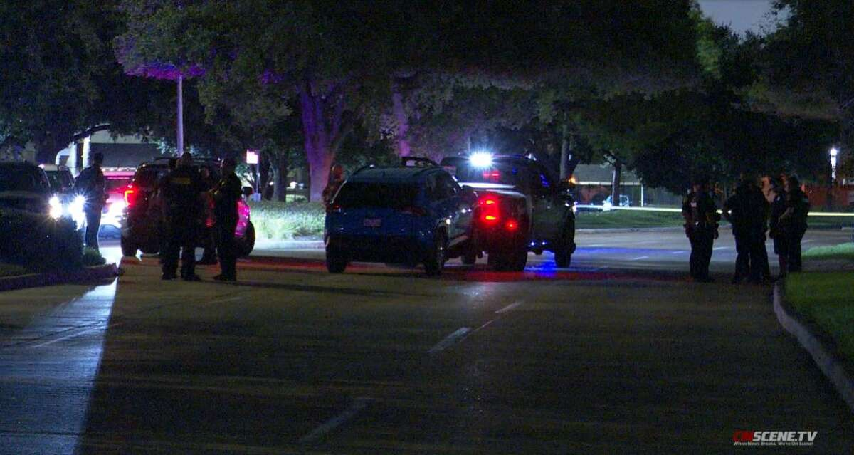 Authorities say a man who got shot at a gas station in Houston three days ago stole an Uber and left a hospital Monday night while wearing a hospital gown.