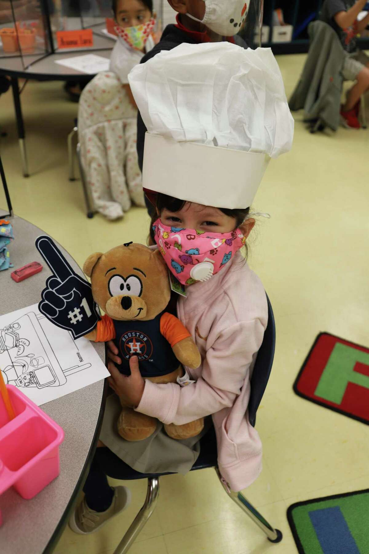A Tarver Elementary School student is pictured on Monday at its National School Lunch Week kickoff.