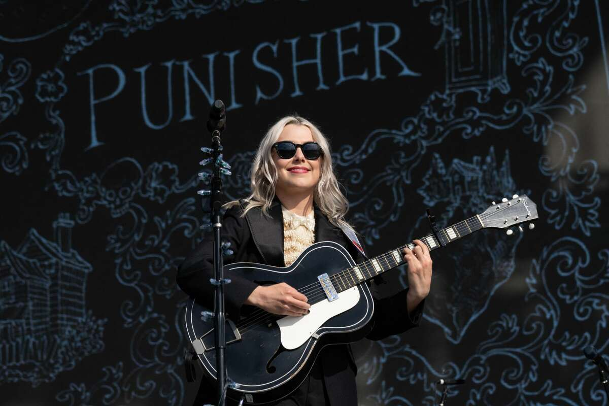 US singer Phoebe Bridgers performs during the Austin City Limits Festival at Zilker Park on October 2, 2021 in Austin, Texas. (Photo by SUZANNE CORDEIRO / AFP) (Photo by SUZANNE CORDEIRO/AFP via Getty Images)