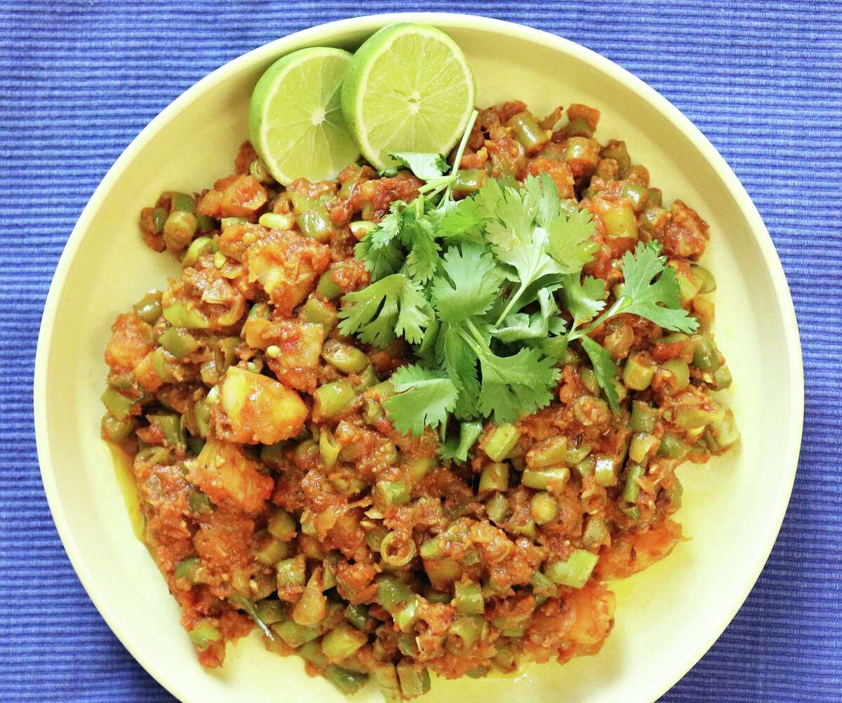 Green Bean Sabzi makes a satisfying meal, no meat required.