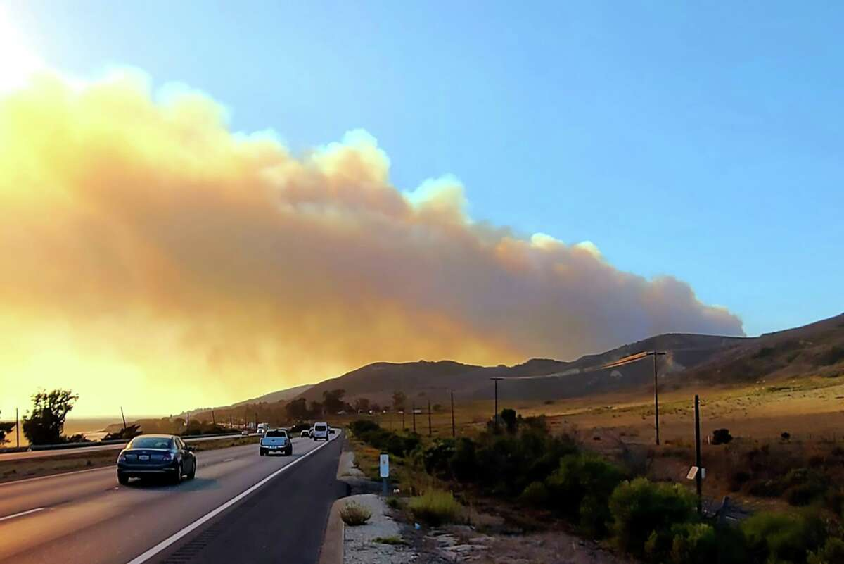 Highway 101 was closed due to Alisal Fire in Southern California.