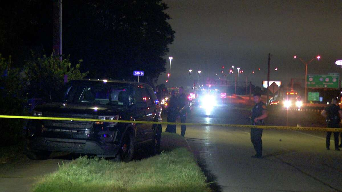 A man believed to have led law enforcement on a chase that went from San Antonio to Seguin and back again shot and killed himself Monday night after he was knocked off the road, according to the San Antonio Police Department.