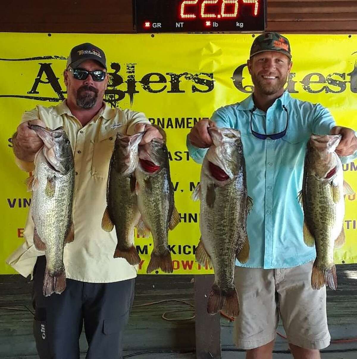 Garrett Pierce and Cody Hall came in second place in the Anglers Quest Lake Conroe Team Championship with a two day total weight 37.88 pounds.
