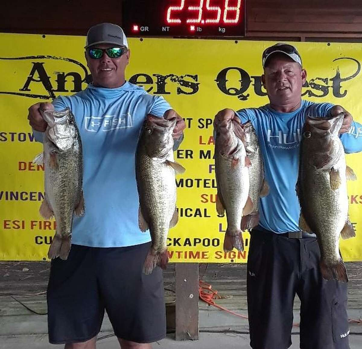 John Stephenson and Ronnie Wagner came in third place in the Anglers Quest Lake Conroe Team Championship with a two day total weight 35.92 pounds.