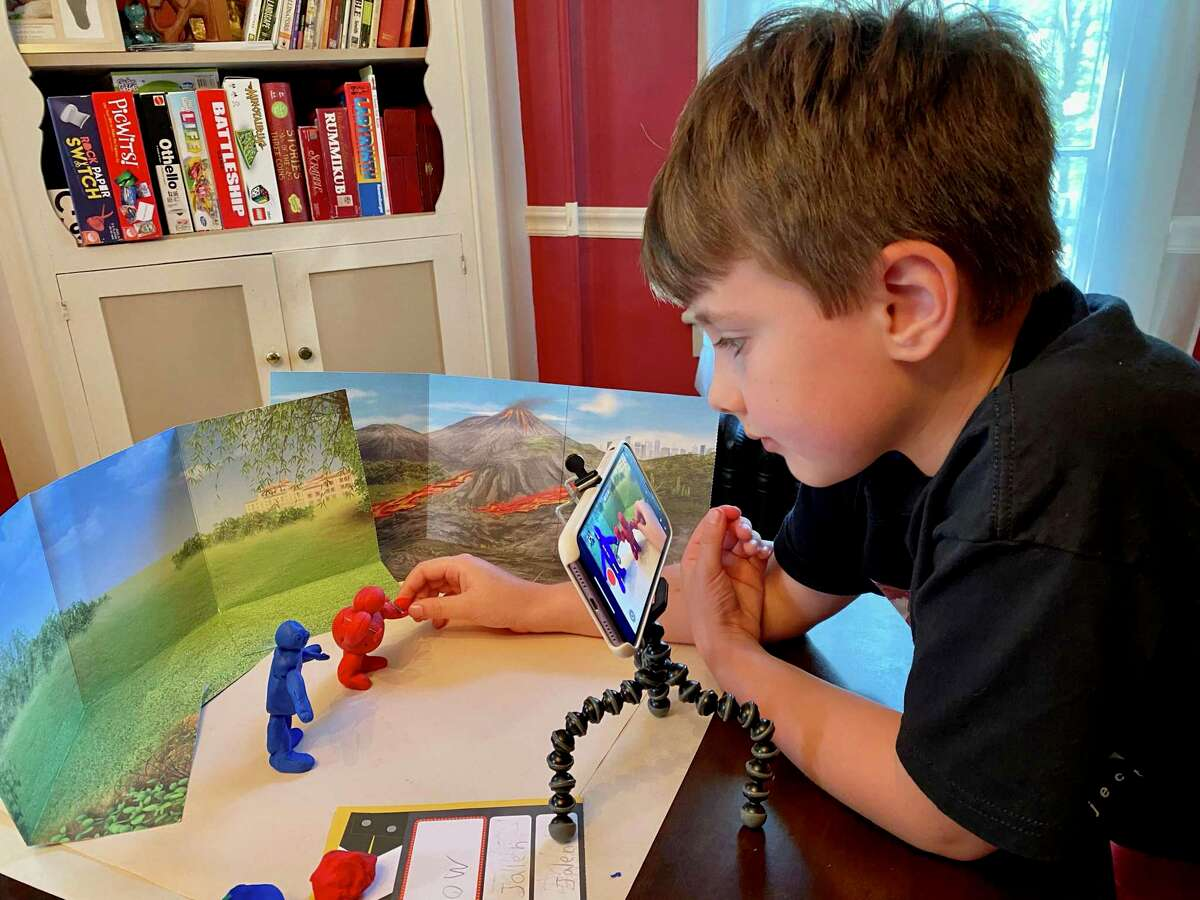 Jalen participates in a previous stop motion class from the American Mural Project. The organization is again offering virtual classes to children this year.