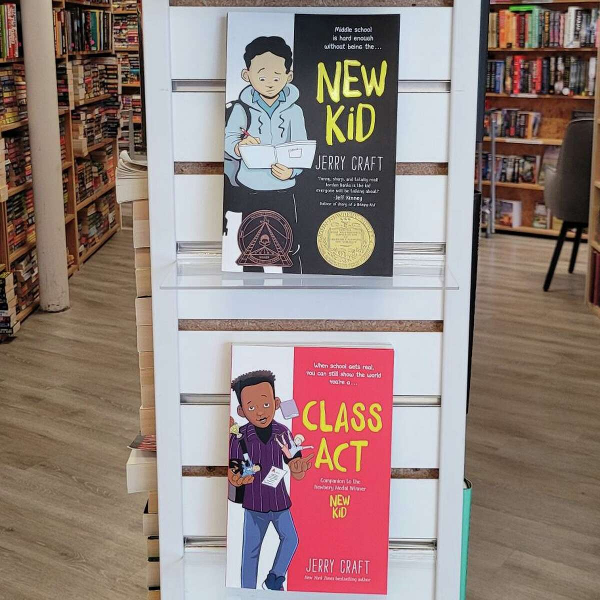 Katy Budget Books is promoting Jerry Craft's graphic novels. Craft's books were removed from Katy ISD libraries following allegations that they promote critical race theory.