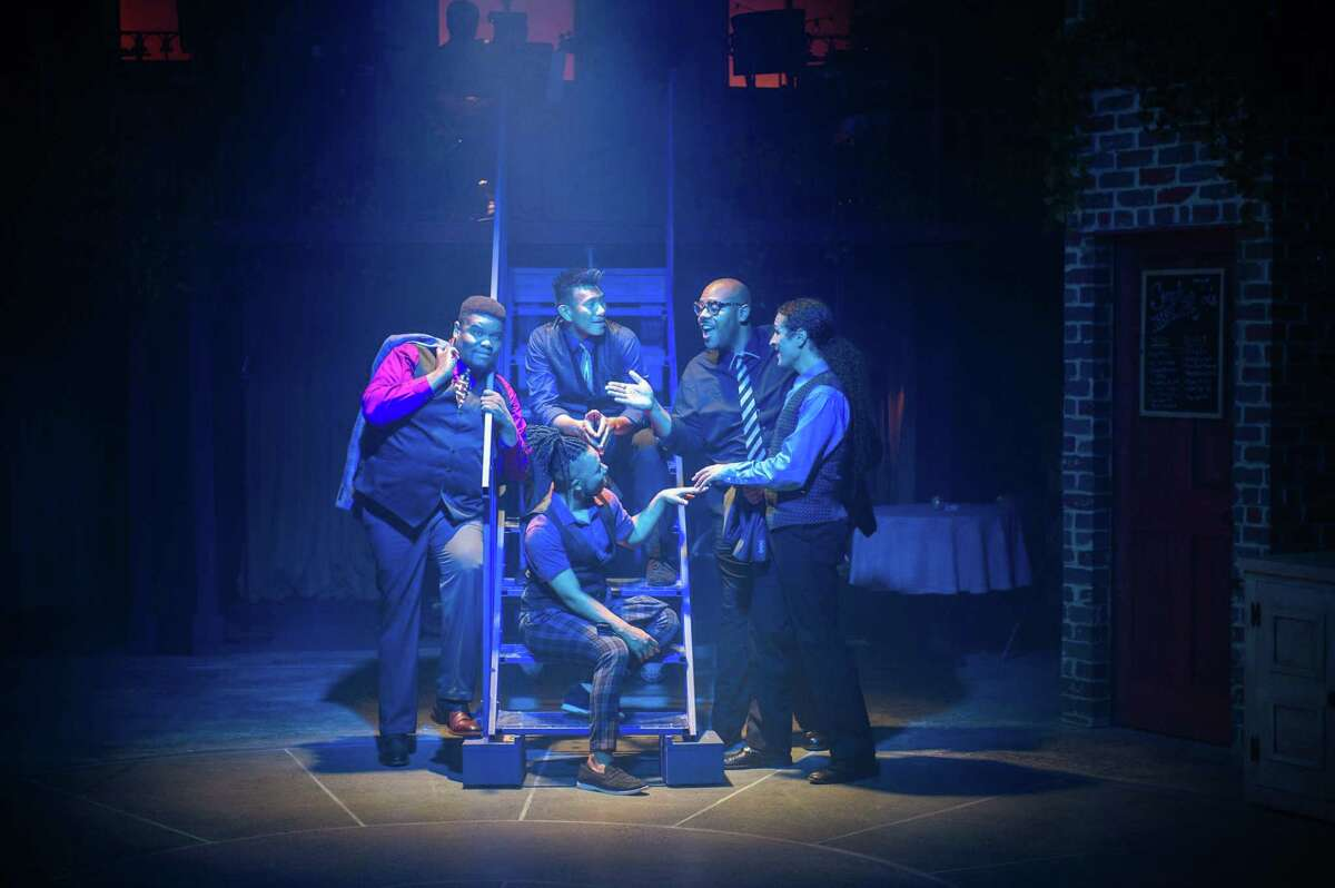 """A Contemporary Theatre of Connecticut has released photos from its 2021-2022 season opener, """"Smokey Joe's Cafe."""" Directed and choreographed by Broadway veteran Stephanie Pope Lofgren, the smash-hit revue of 1950's rock n' roll began performances Sept. 30."""