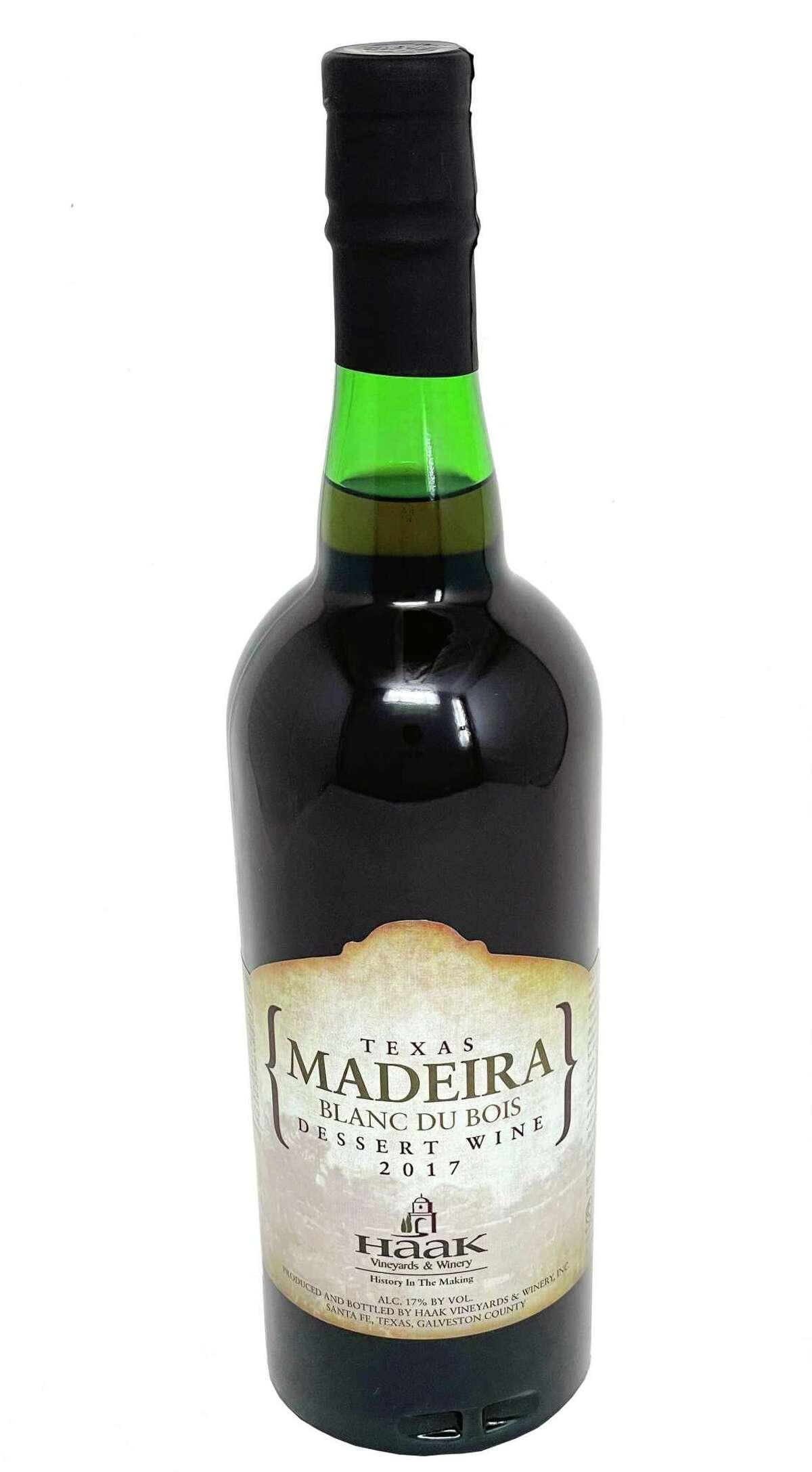 Haak Vineyards and Winery, 2017 Madeira Blanc Du Bois, Texas