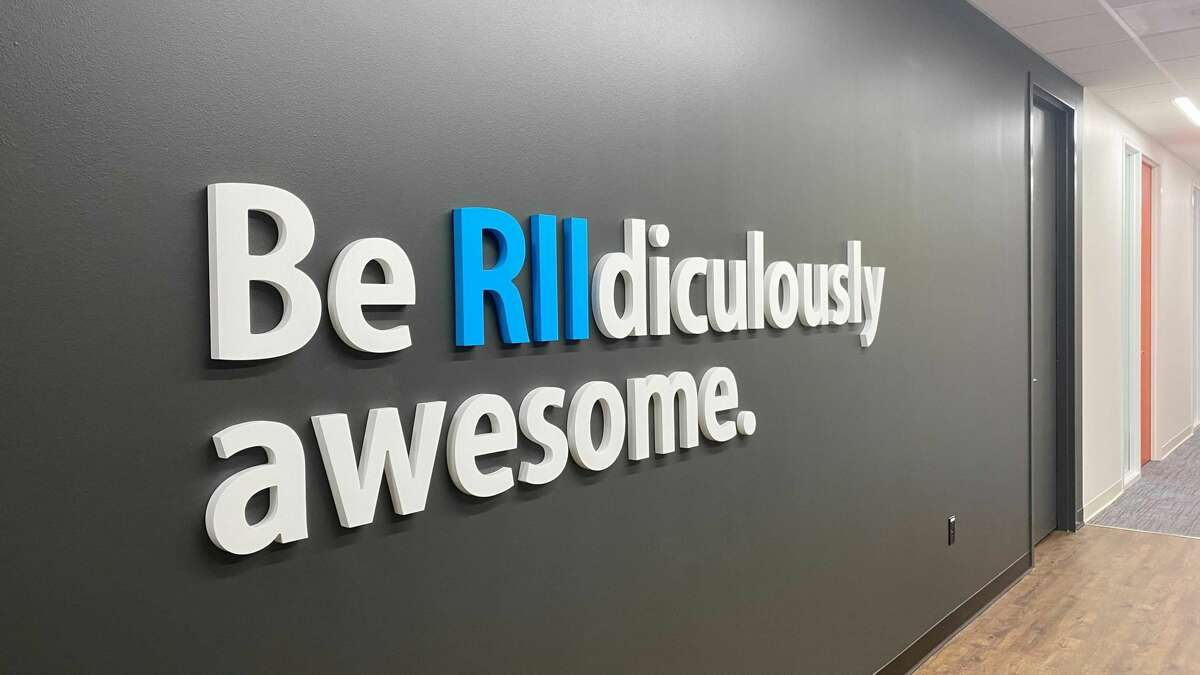 """Signage in RII's San Antonio office represents the company's core purpose of creating """"RIIdiculously Awesome solutions"""" that make the world safer."""