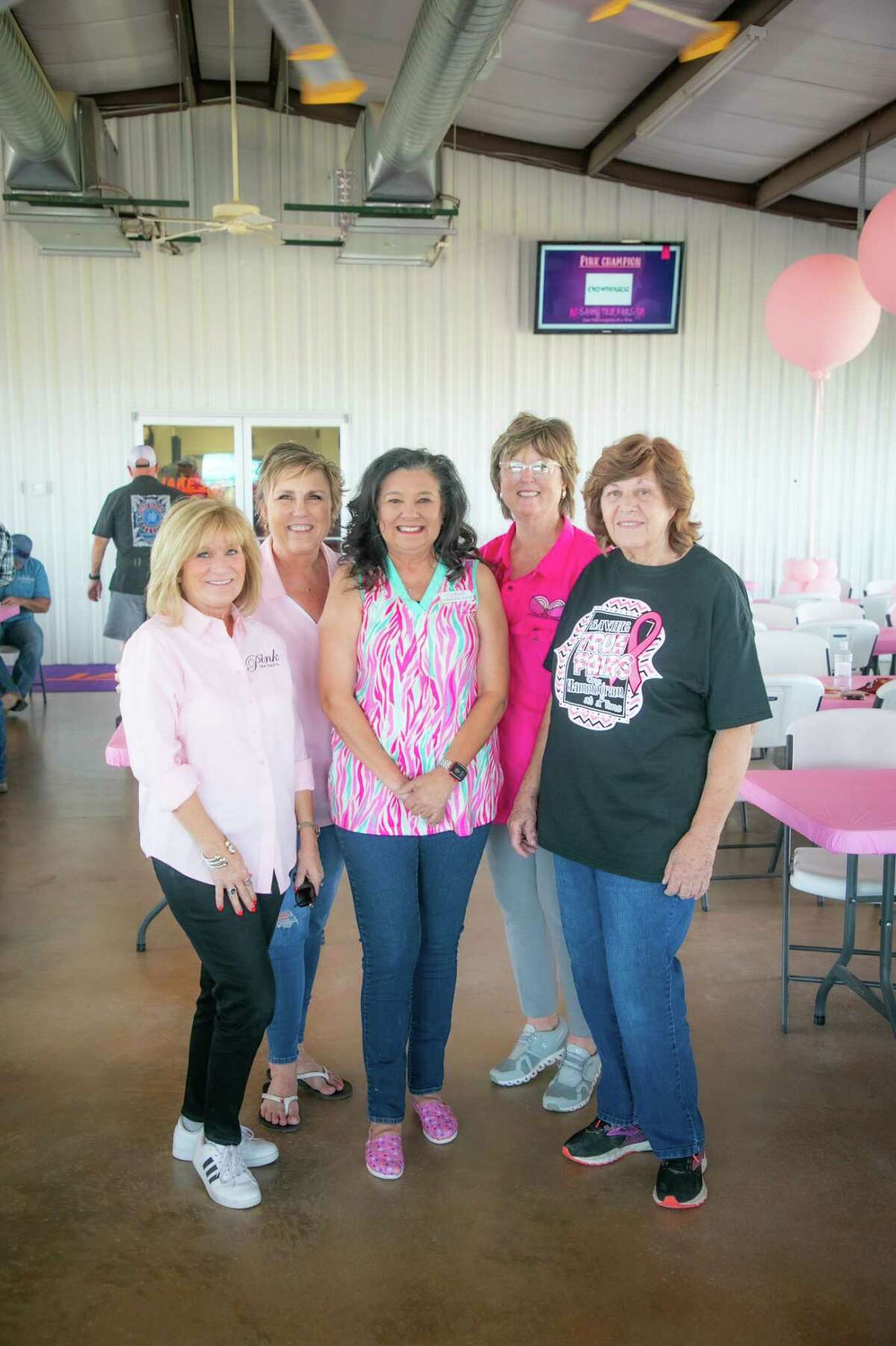 Pink The Basin volunteers photographed during the Saving True Pairs clay shoot benefitting Pint The Basin October 8, 2021 at Jake?•s Clays. MANDATORY CREDIT: The Oilfield Photographer, Inc.