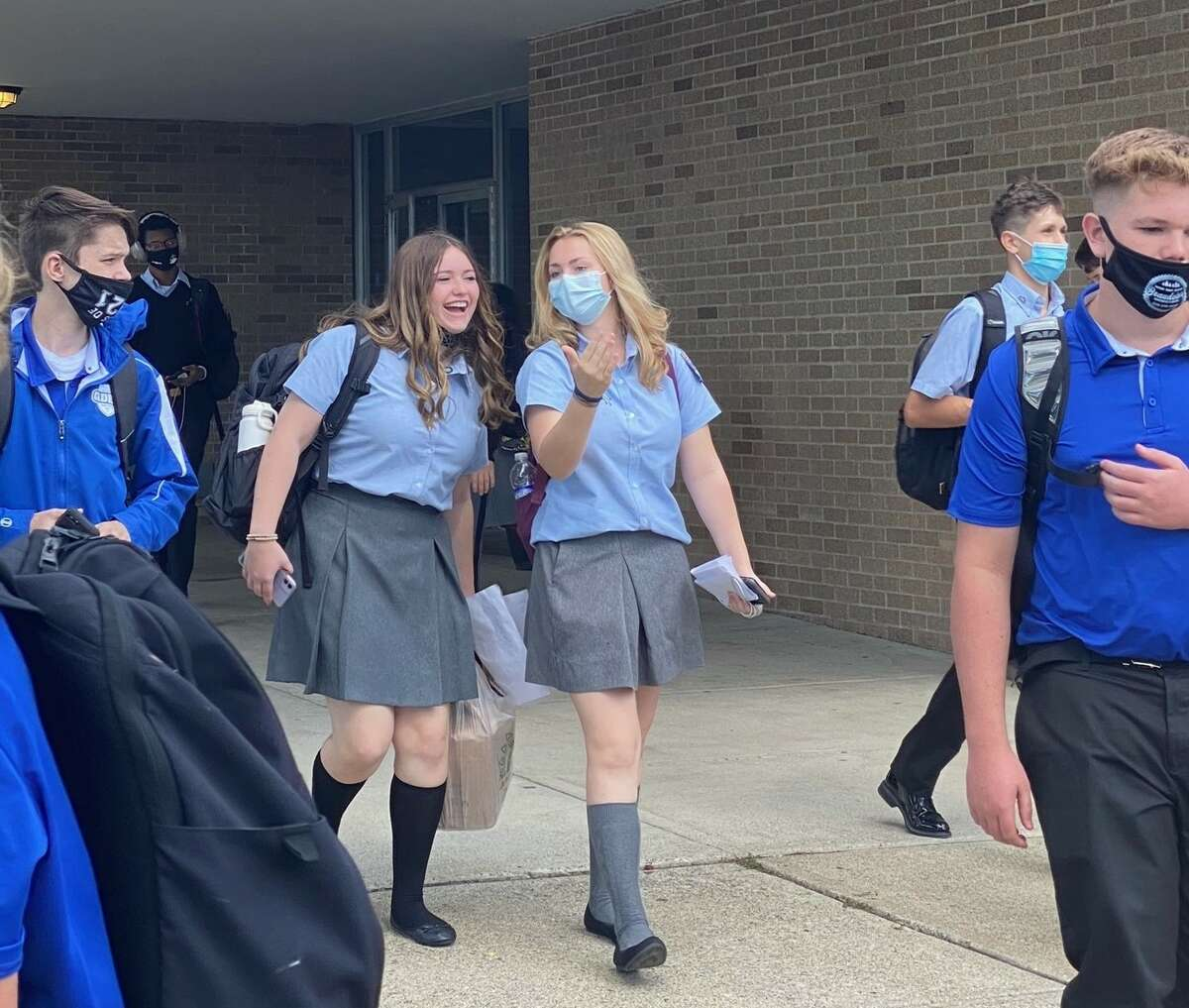 Students attend school at the La Salle Institute in Troy.