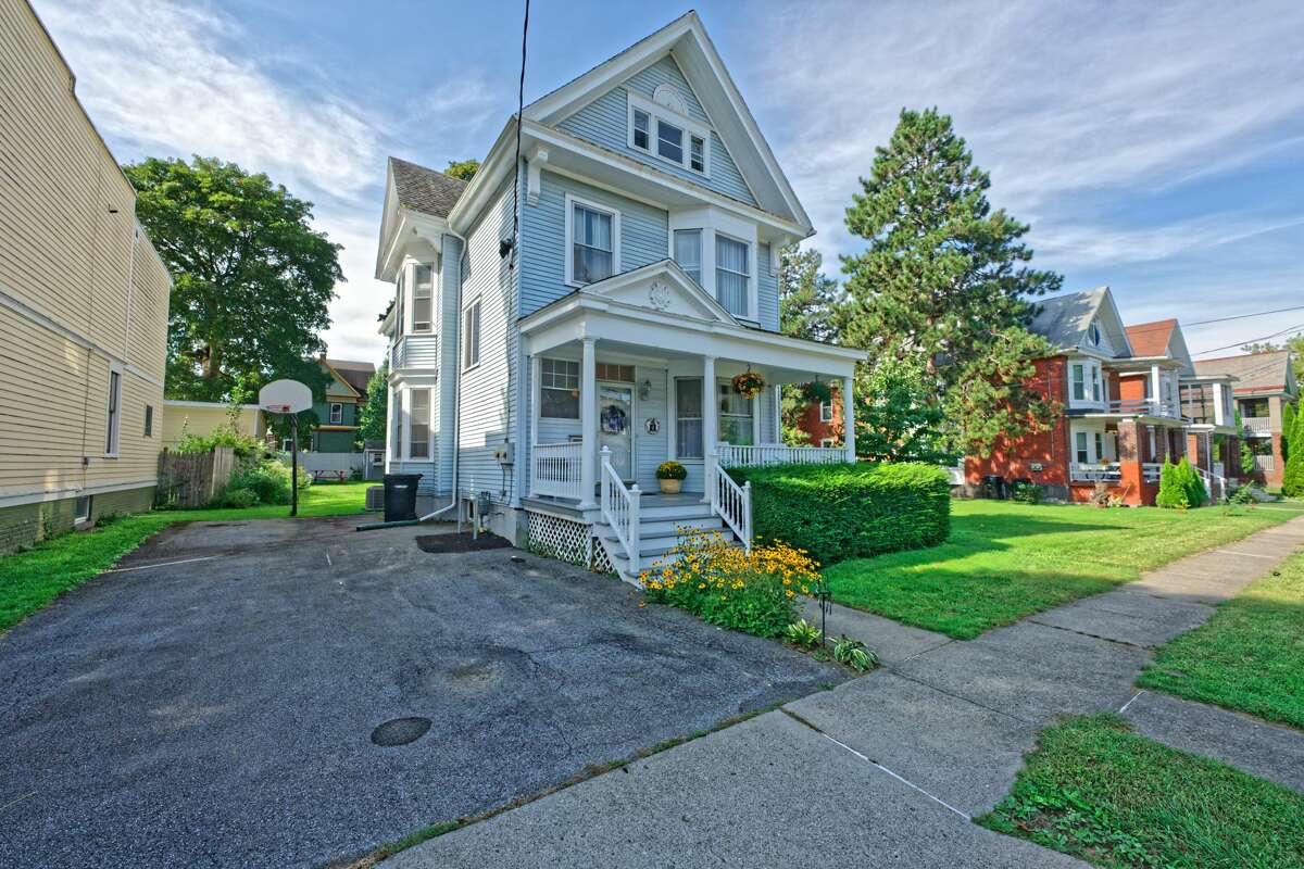 This week's house is a spacious home at 4 Summit Ave. near Frear Park in Troy. Built in 1890, the house is along a cul-de-sac. It has four bedrooms, two bathrooms and 2,778 square feet of living space. There are bay windows on the first and second floors as well as two gas fireplaces. The upstairs is currently set up as a large office space and two bedrooms. Highlights include pine floors with a warm patina, sets of stairs at the front and back of the house and parking space for three vehicles. Troy schools. Central air. 0.26-acre lot. Taxes: $8,500. List price: $250,000. Contact listing agent Nina Scher of Hunt Real Estate ERA at 518-368-5578.