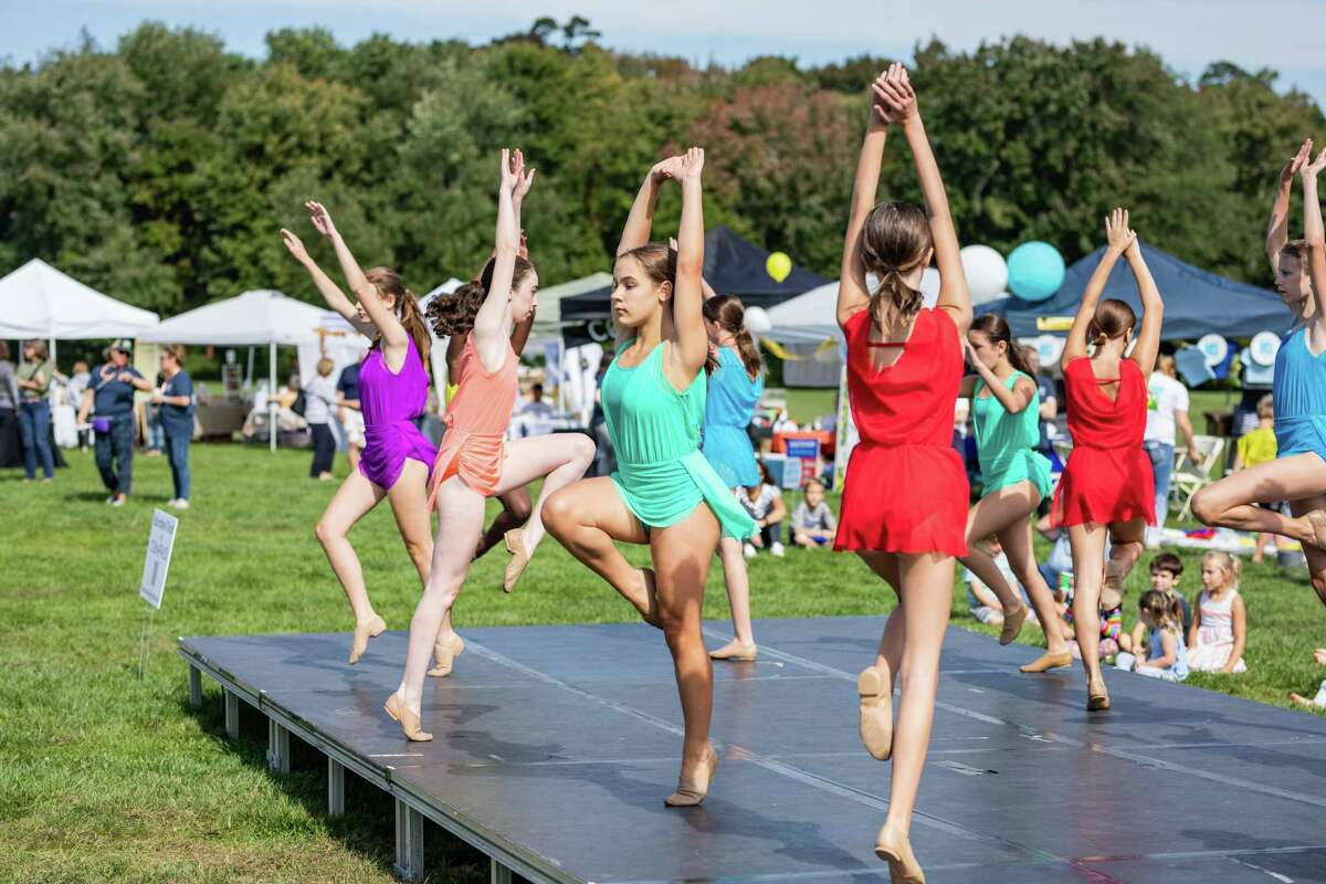 The Darien Arts Center and Darien Parks and Recreation hosted the second annual ROCKtoberfest at Highland Farm in Darien on Saturday, Oct. 2, to benefit the DAC and Parks and Rec.