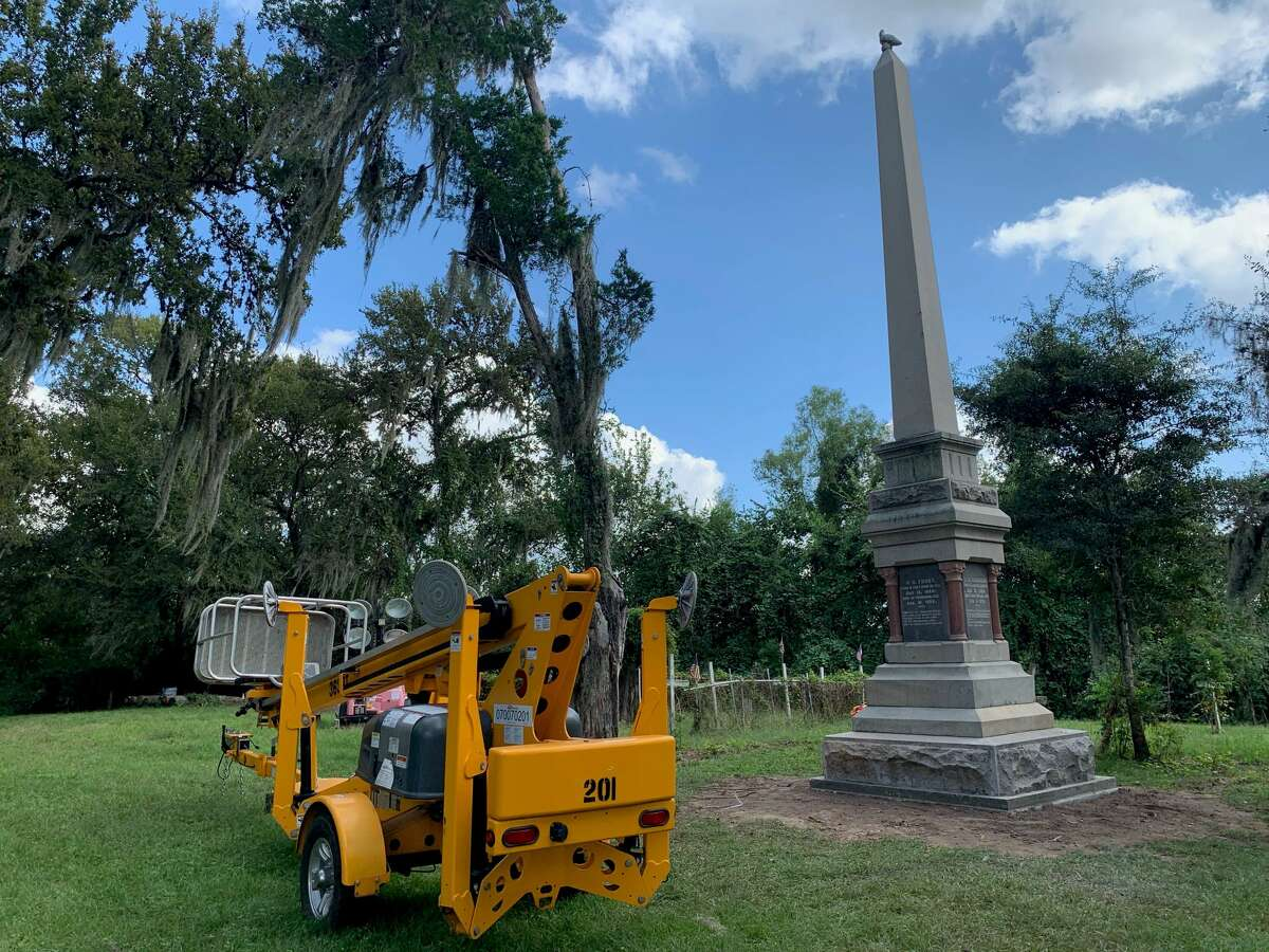 The controversial Jaybird-Woodpecker monument was quietly relocated overnight on Oct. 6-7, 2021 from beside Richmond City Hall to a local cemetery.