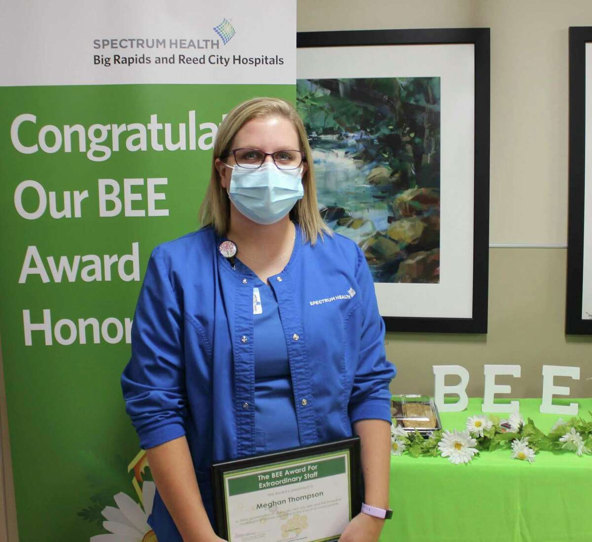 Mammographer Meghan Thompson was given the BEE Award. (Courtesy photo)