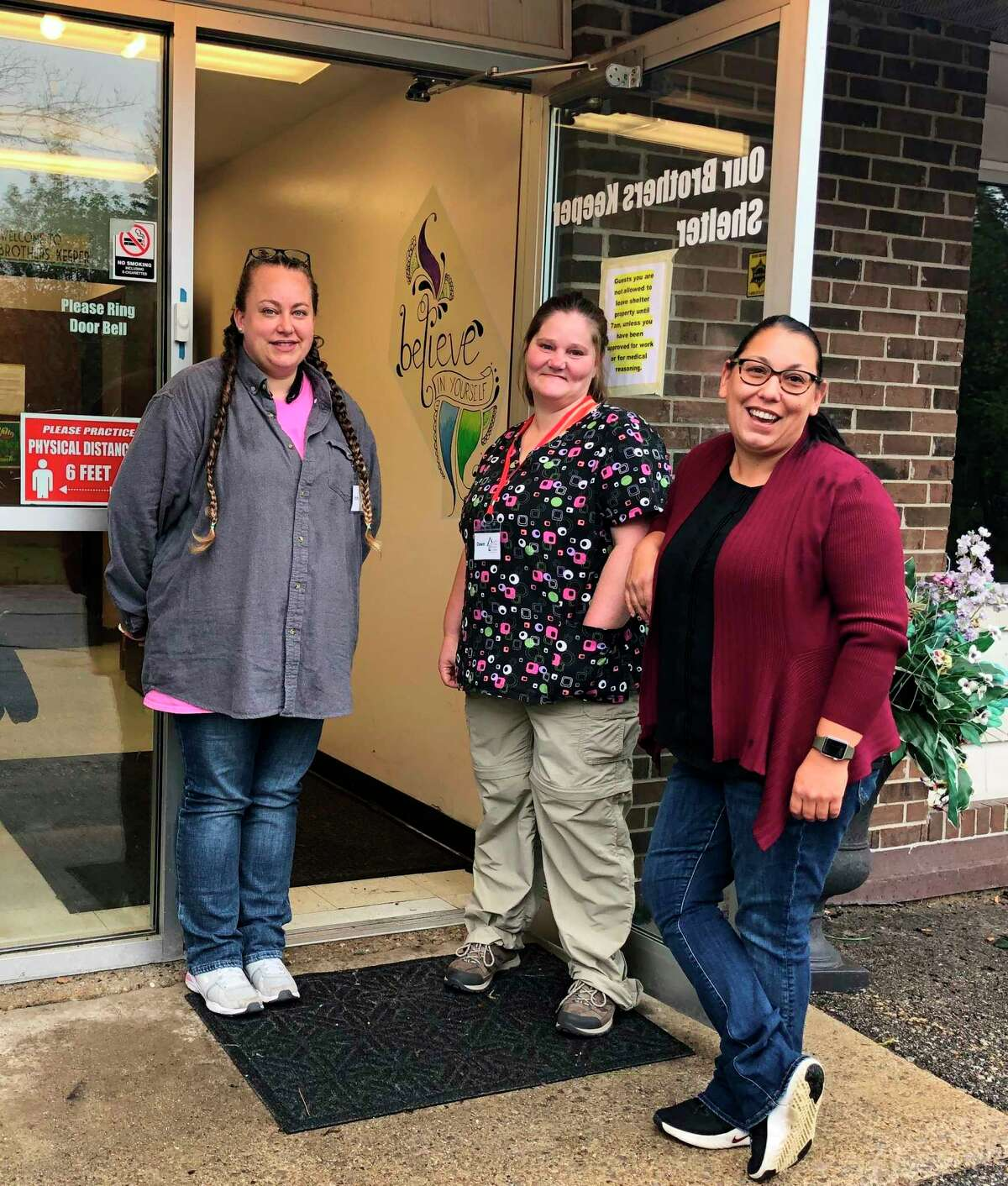 Pictured, from the left, is Shelter Coordinators Emily Dunkel and Dawn Frederick and Executive Director Nicole Alexander. (Courtesy photo)