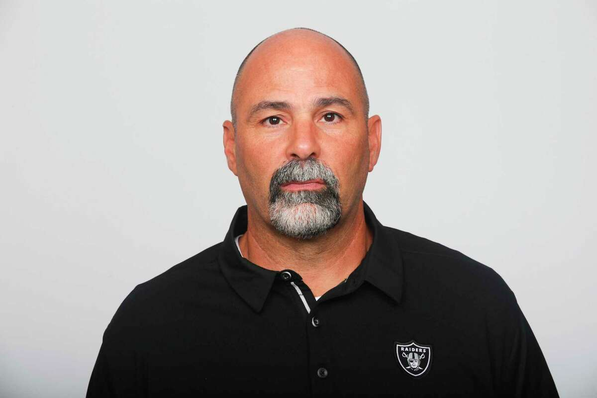 Rich Bissacia, a New Fairfield graduate, was named Raiders interim head coach after Jon Gruden resigned.