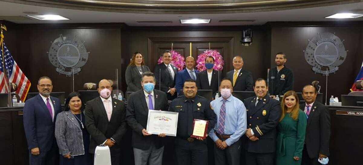 Ricardo Oliva, fire driver and spokesman of the Laredo Fire Department, has been recognized for his adaptability and resourcefulness to the department.