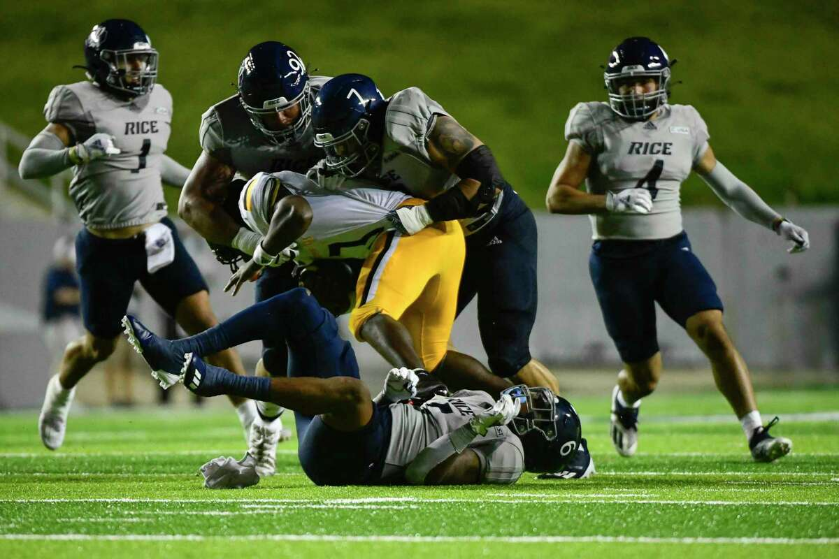 The Rice defense, making a stop against Southern Miss, will face another test in UTSA this week.